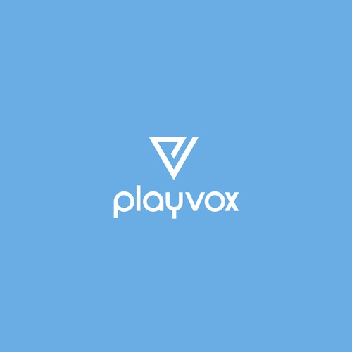 simple inverted pyramid logo for PlayVox