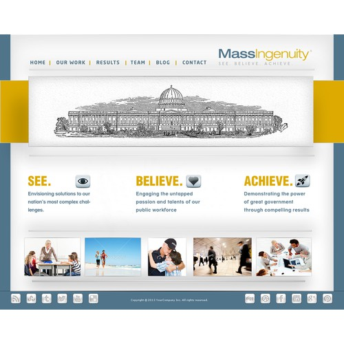 Help Mass Ingenuity (www.massingenuity.com) with a new website design
