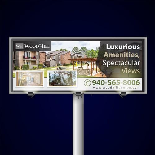 Simple & Elegant Design Billboard for Wood Hill Denton