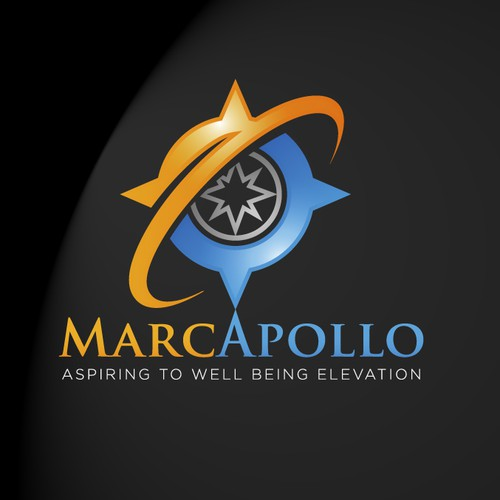 MarcApollo: Logo for a startup internet company that aim to elevate people's well being around the world