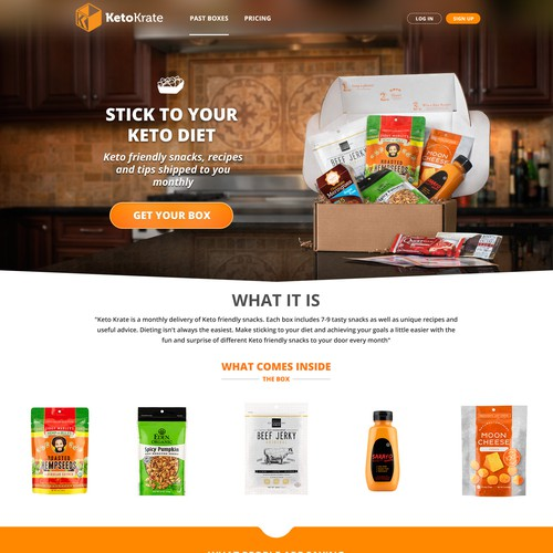 Product box landing page