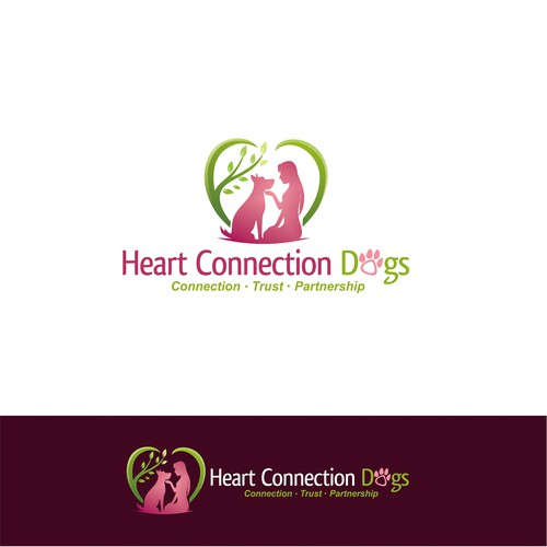 Heart Connection Dogs Logo