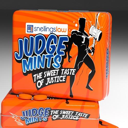Box concept for JUDGE Mints.