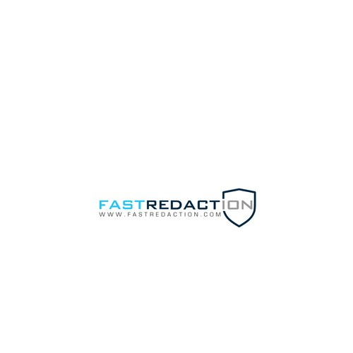 Authorative bold logo for FastRedacgion service.
