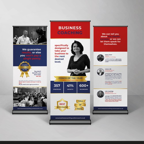 Clean roll-up banner designs