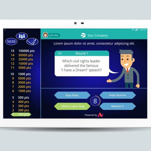 Millionaire Game App design