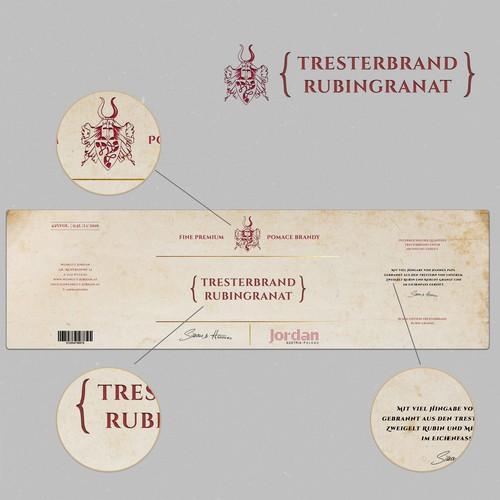 Brandy label design