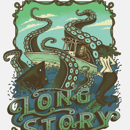 Long Story T-Shirt Design