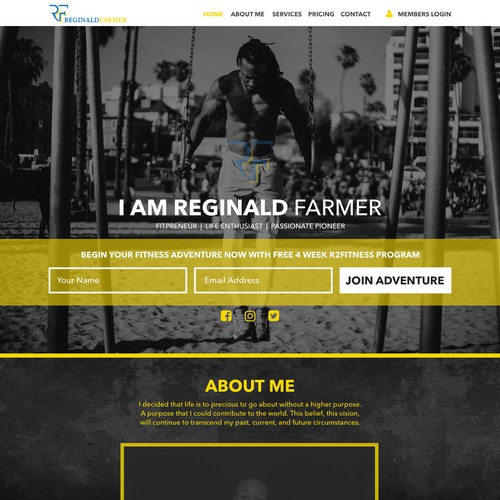 Fitness Trainer Landing Page