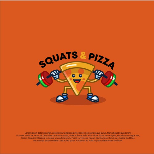 logo concept for squat & pizza