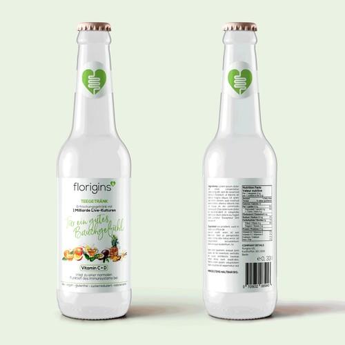 Label for drink bottle
