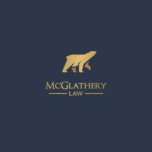 McGlathery Law logo design concept