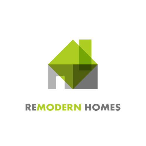 Create a mid-century modern home renovation logo