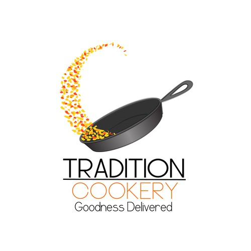 food delivery concept logo