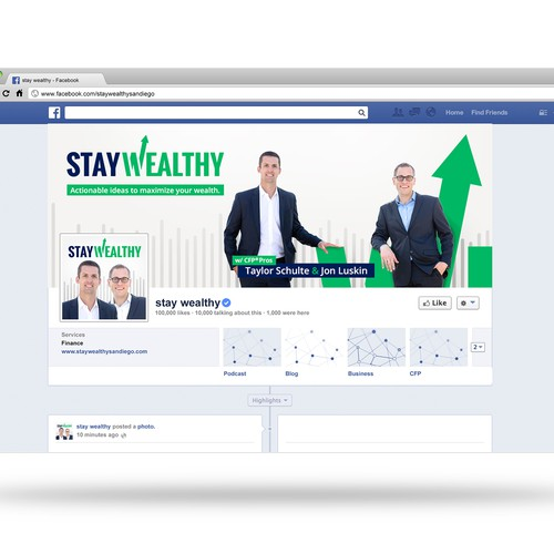 STAY WEALTHY - Facebook Cover