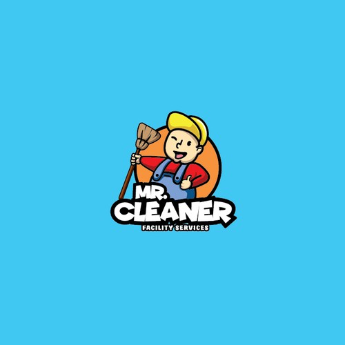 Playful logo for cleaning services.