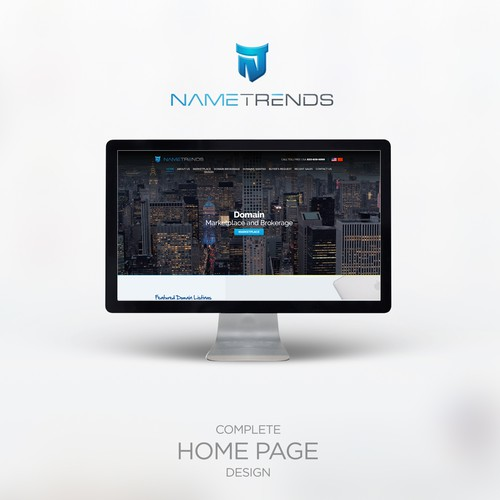 Home Page Design for hosting service