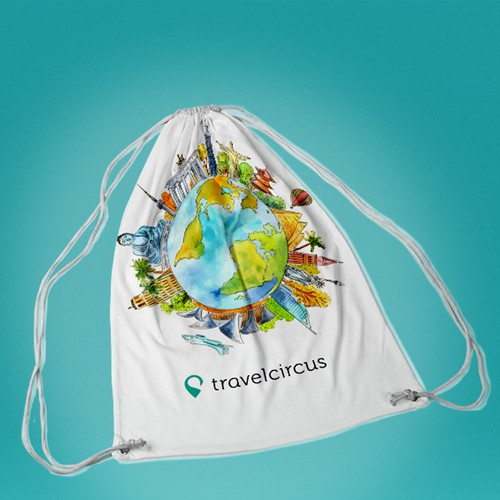merchandise, drawstring bag for travelcircus.de