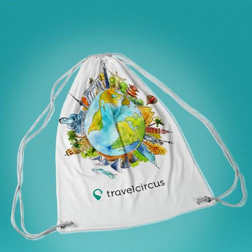merchandise, drawstring bag for travelcircus.de