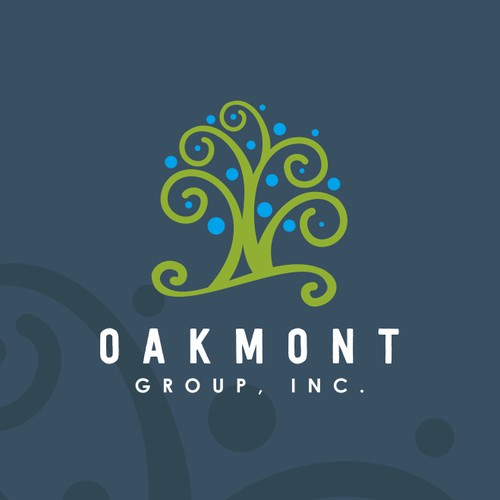 unique logo for oakmont group Inc