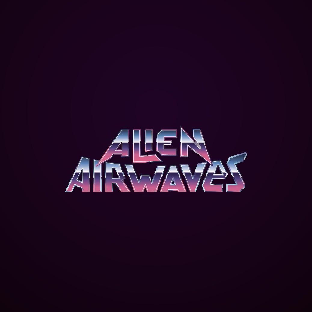 Alien Airwaves - 80's Synthwave Retrofuturistic Logo