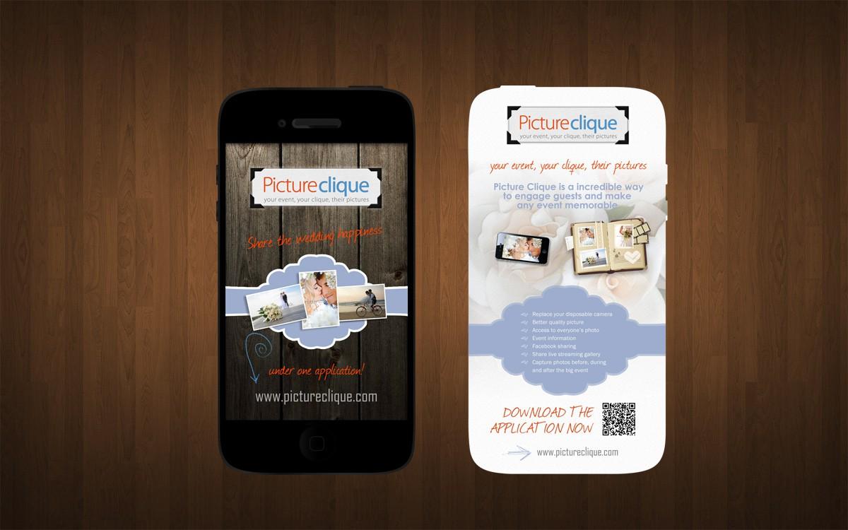 Postcard design for new smartphone photo sharing app