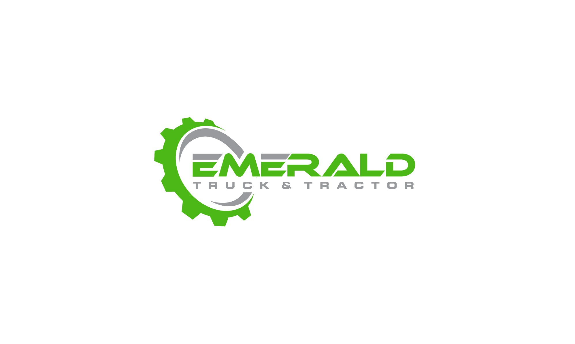 Create an eye catching logo for a brand new company, EMERALD Truck & Tractor