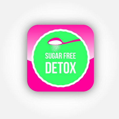Sugar-Free Detox Logo for iPhone App