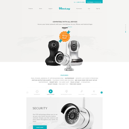 Design for Bestselling Security Camera Brand