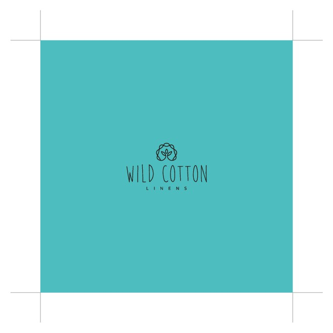 Package color, art and usefulness into a vibrant logo for wildcottonlinens.com