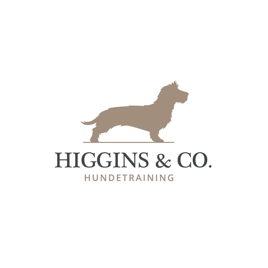 Erstelle eine Illustration/Logo eines coolen Dackels für eine Hundeschule