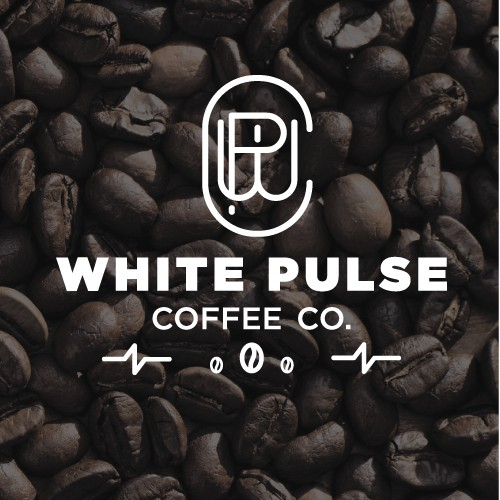 White Pulse Coffee Logo