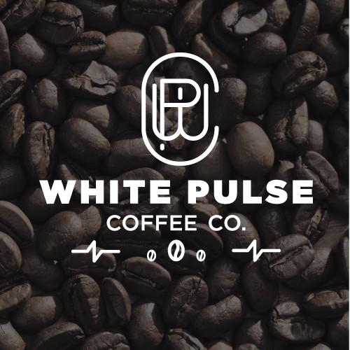White Pulse Coffee Logo