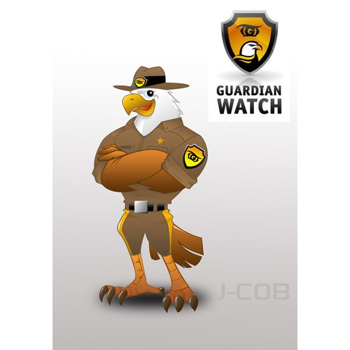 Mascot design for Guardian Watch, LLC