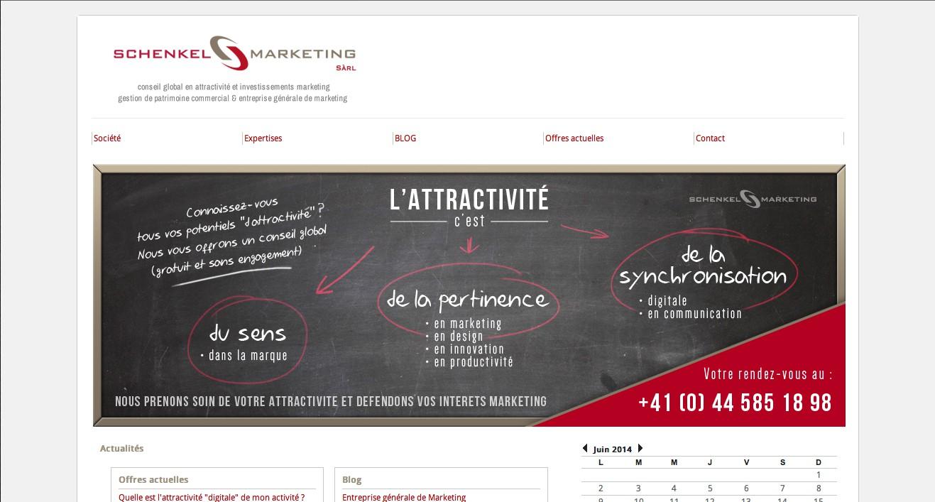 Bandeau de site internet pour société de services active dans le conseil en attractivité marketing