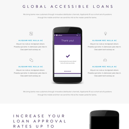 Global Accessible Loans Landing Page