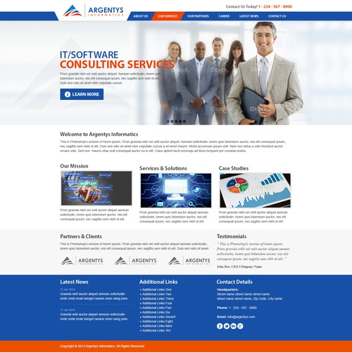 Winning website for government bioinformatics / IT contractor