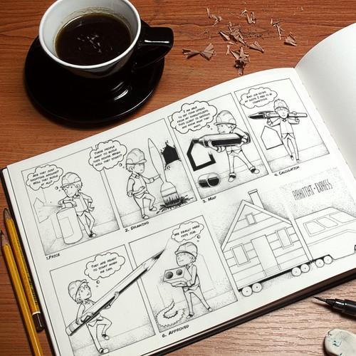 Comic strip for ArkitektExpress