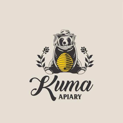 design beekeper logo for KUMA Apiary