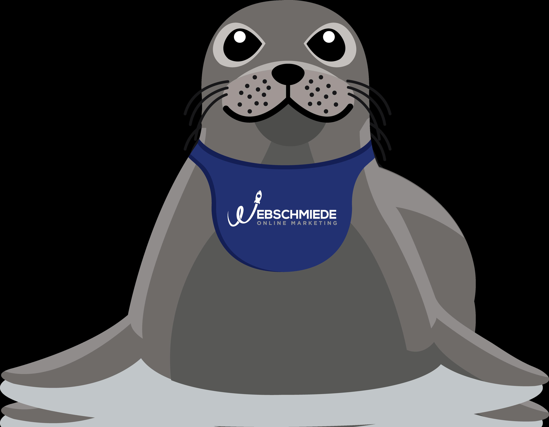 Illustration eines Maskottchens Seehund oder Möwe
