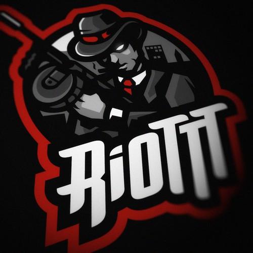 RiOTTT MOB Mascot Logo