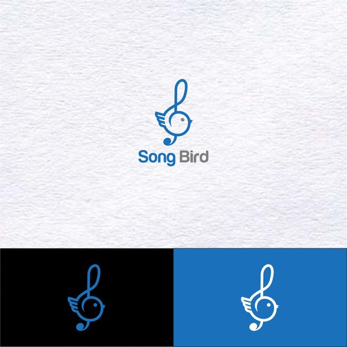 Simple and minimalist logo for Song Bird