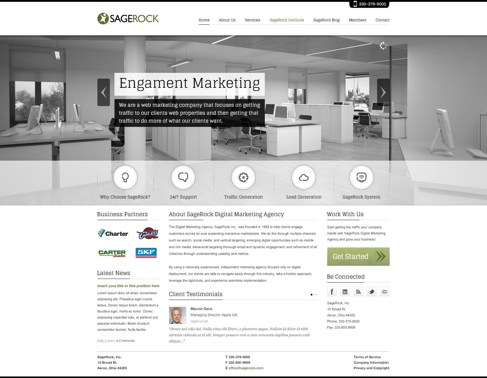 Help SageRock with a new website design