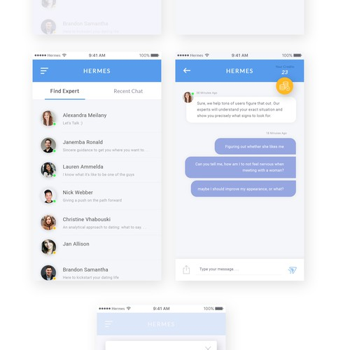 Hermes Chat UI Design