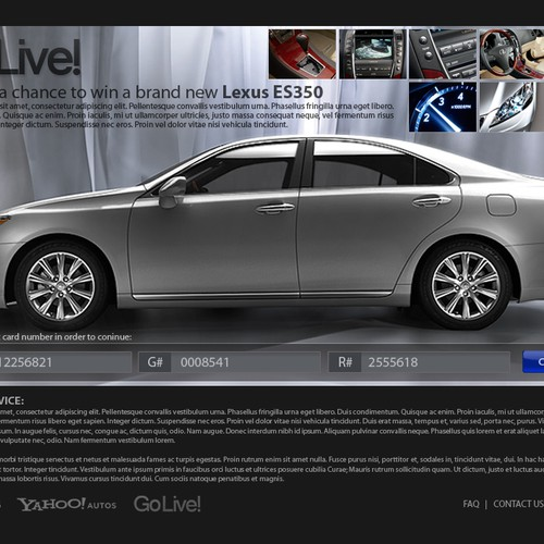 Killer Page Layout Needed So We Can Give Away A New Lexus ES350