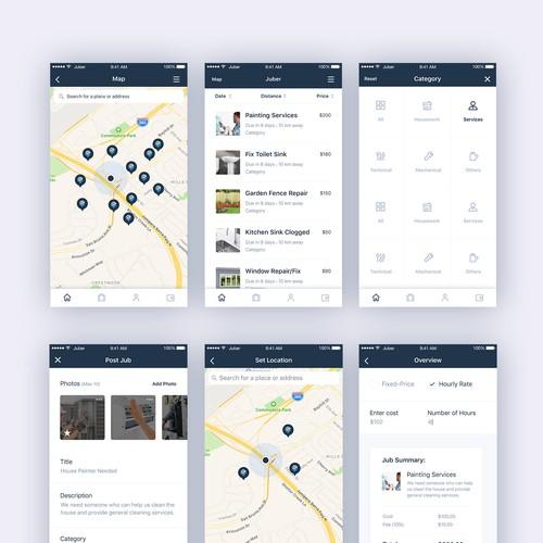 Juber App (Finding jobs)