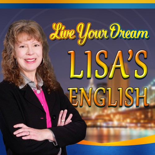 Cover art needed for podcast/website launch, Lisa's English learning site.