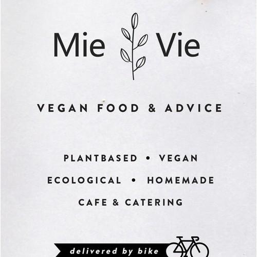 Vegan catering trifold brochure design