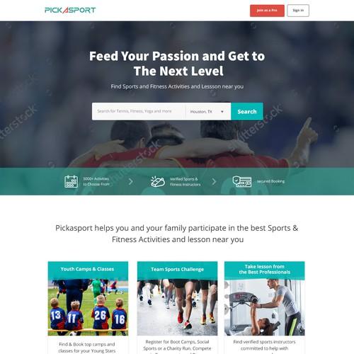 Pickasport homepage