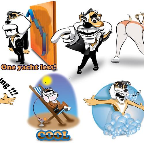 Create a impressive character of bulldogs!